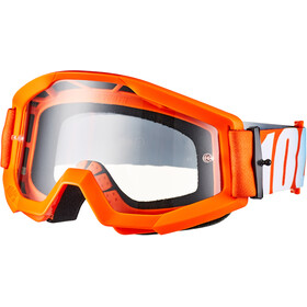 100% Strata Anti Fog Clear Goggles Jongeren, orange